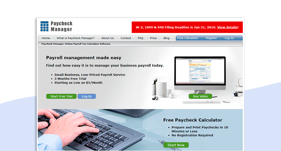 Paycheck Manager Payroll software for small business