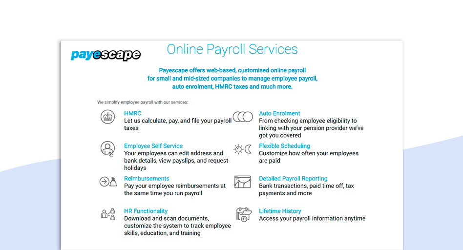 Payescape Payroll software for small business