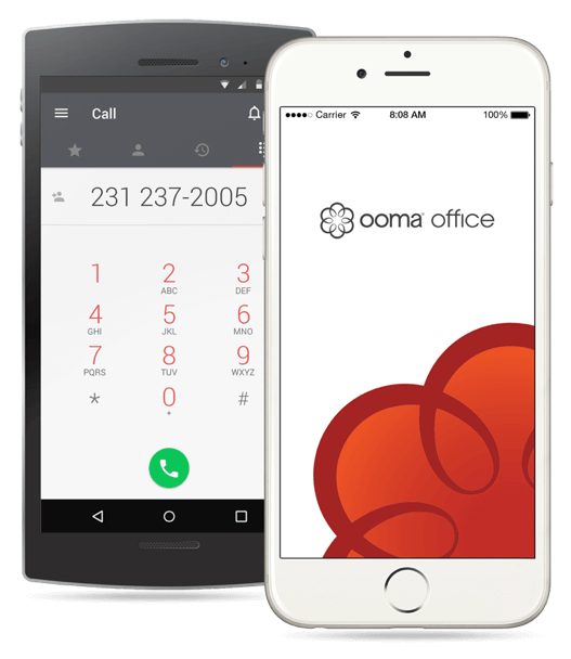ooma office mobile voip app