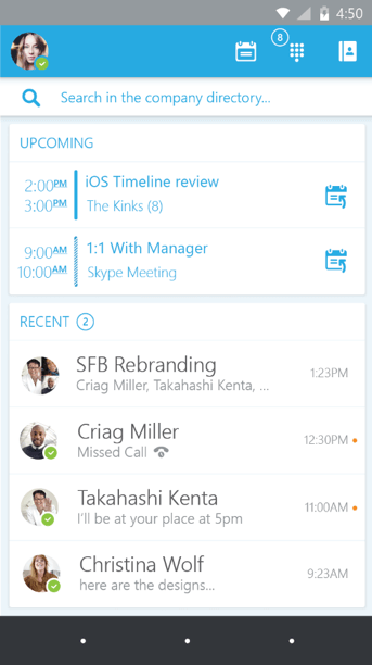 skype for business mobile app