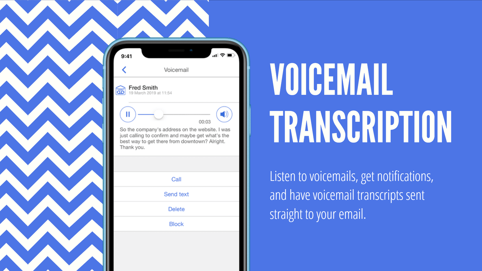 voicemail text